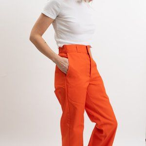 NWT Vintage 90s Orange Dickies- Plain Front Twill